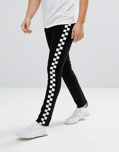 Черные джинсы скинни в шахматную клетку Granted Super - Черный