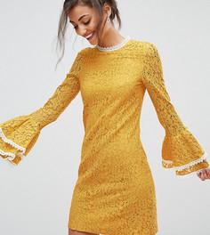 Платье А-силуэта с рукавами клеш Little Mistress Tall - Желтый