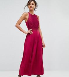 Платье макси с кружевной аппликацией Little Mistress Tall - Красный