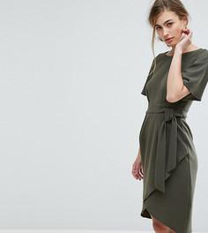 Платье с рукавами‑кимоно и поясом Closet London - Зеленый