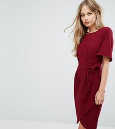 Платье с рукавами‑кимоно и поясом Closet London - Фиолетовый