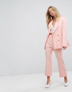 Укороченные расклешенные брюки Millie Mackintosh - Розовый