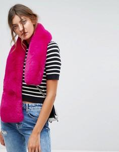 Розовая меховая накидка New Look - Розовый