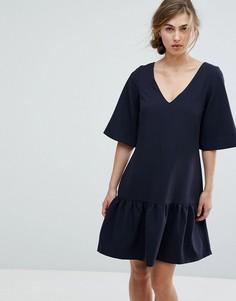 Платье мини с заниженной талией Closet London - Темно-синий