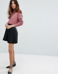 Плиссированная мини-юбка Vero Moda - Черный