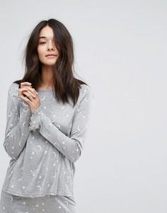 Пижамный топ с принтом звезд и луны Vero Moda - Серый