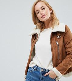 Куртка из искусственной овчины Vero Moda Petite - Красный