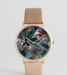 Часы с коричневым кожаным ремешком Reclaimed Vintage Inspired Hawaiian эксклюзивно для ASOS - Коричневый