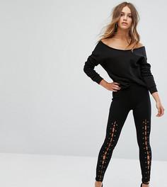 Леггинсы со шнуровкой New Look Petite - Черный