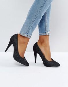 Блестящие туфли-лодочки с конусообразным каблуком New Look - Серебряный