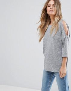 Трикотажный топ New Look - Серый
