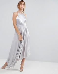 Асимметричное платье Coast - Серебряный