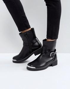 Байкерские ботинки Pieces - Черный