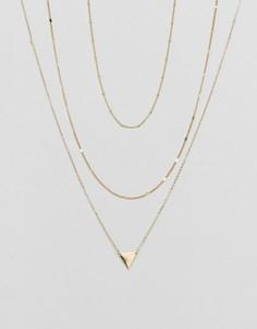 Многослойное ожерелье Pieces - Золотой