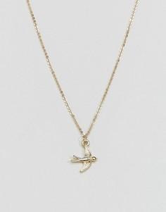 Ожерелье с подвеской в виде птицы Pieces - Золотой