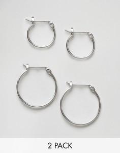 Набор серег-колец Pieces - Серебряный