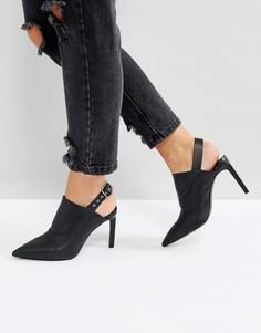 Туфли с открытой пяткой AllSaints Jen - Черный