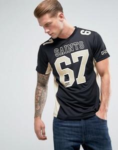 Сетчатая футболка Majestic NFL New Orlean Saints - Черный