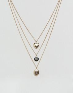 Ярусное ожерелье New Look - Золотой