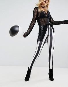 Леггинсы в полоску с завышенной талией Rokoko Halloween - Мульти