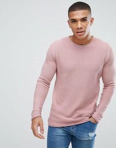 Розовый джемпер с эффектом кислотной стирки New Look - Розовый