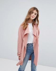 Легкое каскадное пальто New Look - Розовый