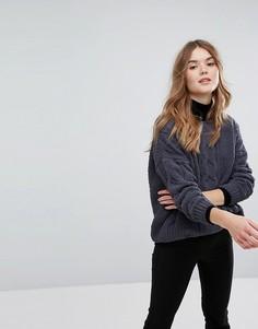 Оверсайз-джемпер крупной вязки из шенили New Look - Серый