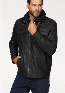 Кожаная куртка MANS WORLD