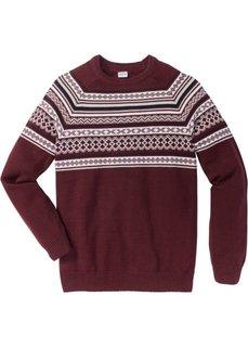Пуловер Regular Fit (кленово-красный) Bonprix
