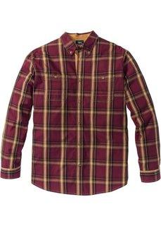 Рубашка Regular Fit с длинным рукавом (кленово-красный в клетку) Bonprix
