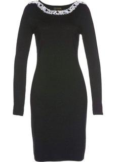 Вязаное платье ПРЕМИУМ (черный) Bonprix