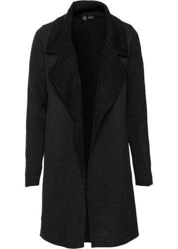 Двухстороннее вязаное пальто (черный)