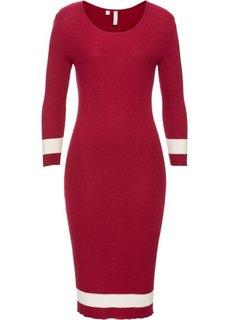 Вязаное платье (темно-красный) Bonprix