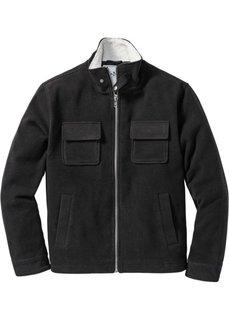 Куртка Regular Fit с воротником из искусственного меха (черный) Bonprix