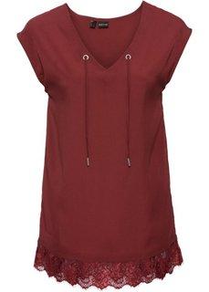 Шифоновая блузка (темно-красный) Bonprix