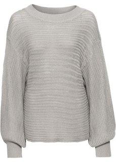 Ажурный пуловер покроя оверсайз (серебристый матовый) Bonprix