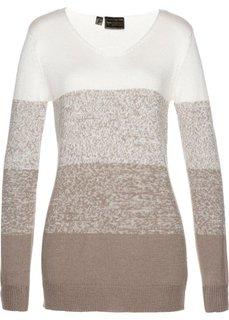 Пуловер с кашемиром (кремовый/натуральный камень) Bonprix