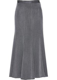 Длинная юбка (серый меланж) Bonprix