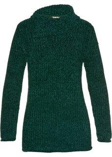 Пуловер (темно-зеленый) Bonprix