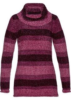 Пуловер с высоким воротником (красная ягода) Bonprix