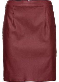 Юбка с покрытием (темно-красный) Bonprix