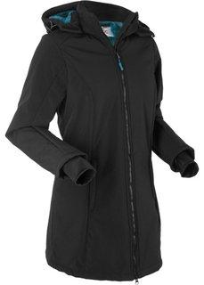 Функциональная куртка-софтшелл с плюшевой подкладкой (черный) Bonprix
