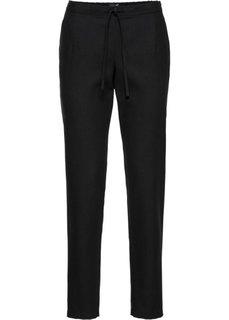 Клетчатые брюки (черный) Bonprix