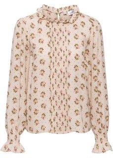 Шифоновая блузка (бежевый в цветочек) Bonprix