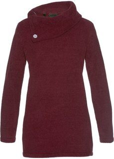 Пушистый пуловер (темно-бордовый) Bonprix