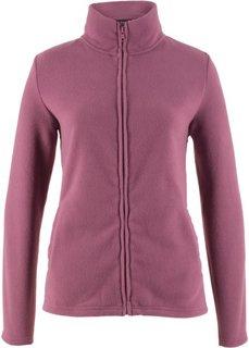 Базовая флисовая куртка (ягодный матовый) Bonprix