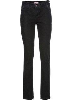 Узкие стрейчевые джинсы, cредний рост (N) (черный) Bonprix