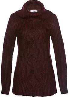 Пуловер (кленово-красный меланж) Bonprix