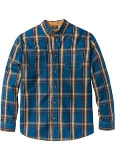 Рубашка Regular Fit с длинным рукавом (серо-синий) Bonprix