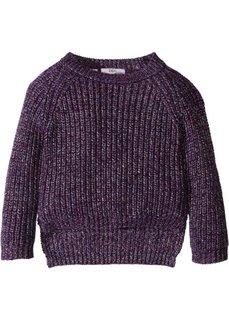 Пуловер с блестящим отливом (темно-лиловый с блеском) Bonprix